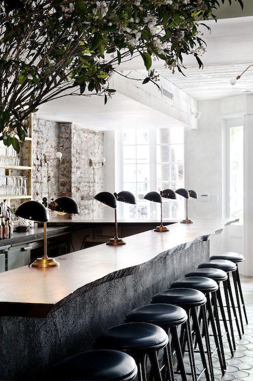 The Musket Room, iluminación de la barra de un bar