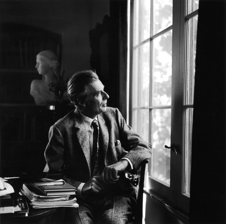 Aldous Huxley (1894-1963), English writer and philosopher. (photograph by William Claxton, 1957)