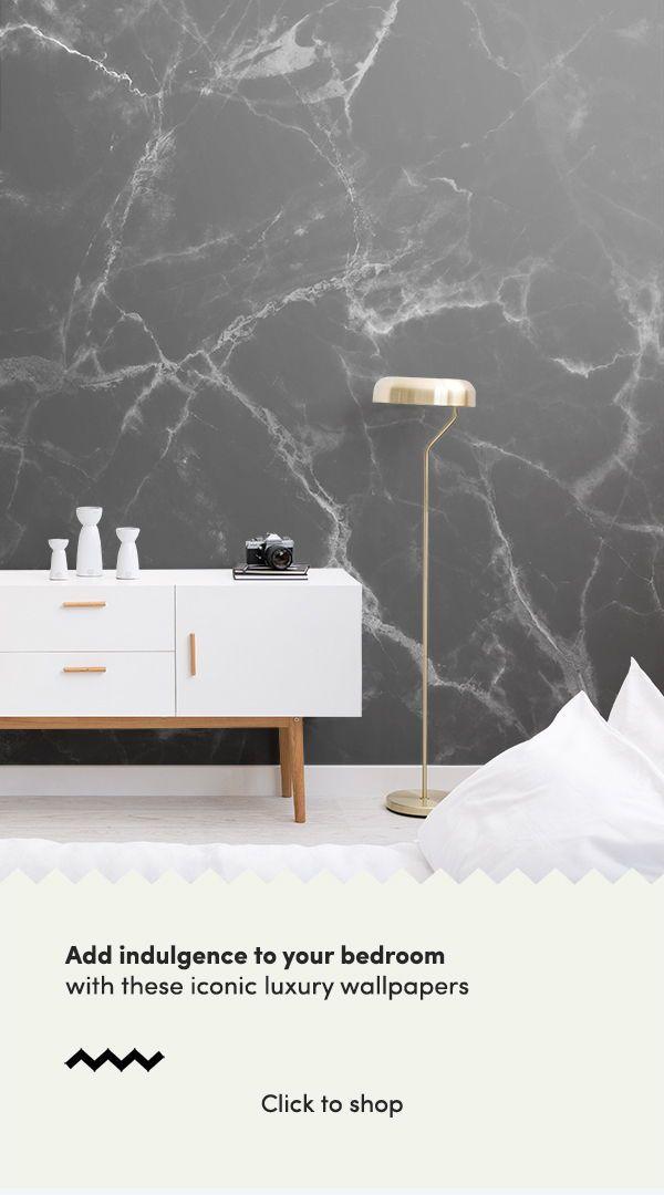 Black Marble Wallpaper Dark Marble Texture Muralswallpaper Luxury Wallpaper Wallpaper Bedroom Wallpaper Bedroom Feature Wall