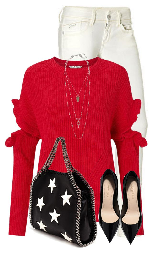 """""""Star Print Bag"""" by daiscat ❤ liked on Polyvore featuring G-Star Raw, Miss Selfridge, STELLA McCARTNEY and Lucky Brand"""
