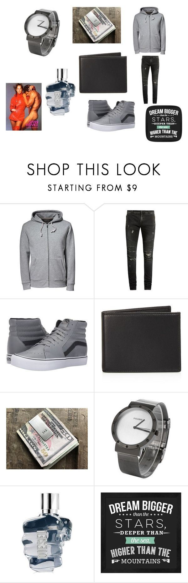 """Thor and Hercules"" by nadaanja ❤ liked on Polyvore featuring Lands' End, Balmain, Vans, The Men's Store, Diesel, men's fashion and menswear"