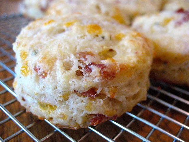 Bacon Cheddar Sage Biscuits | Foodie inspiration | Pinterest