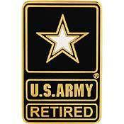 U.S. Army Retired pin - Meach's Military Memorabilia & More
