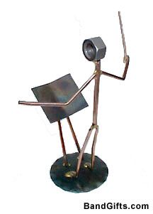 If you're looking for the perfect gift for your band teacher / band director, choir director, here it is! Simple and to the point, this music figurine knocks it out of the park! http://store.drumbum.com/skuF-8.html