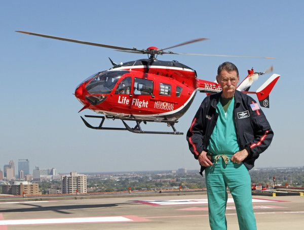 Red Duke With Memorial Hermann Life Flight. It Is So Cool To Have A Chance  To Work With This Living Legend.