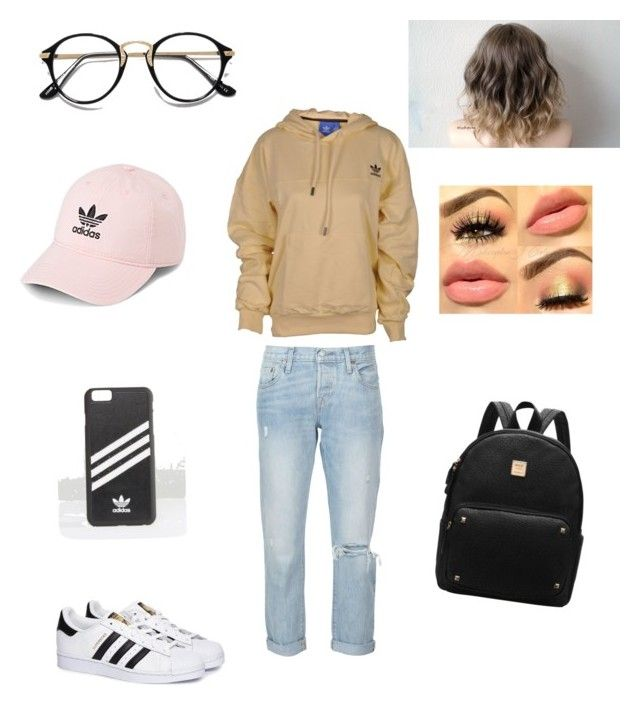 """""""Untitled #47"""" by nat2124 on Polyvore featuring Levi's and adidas"""