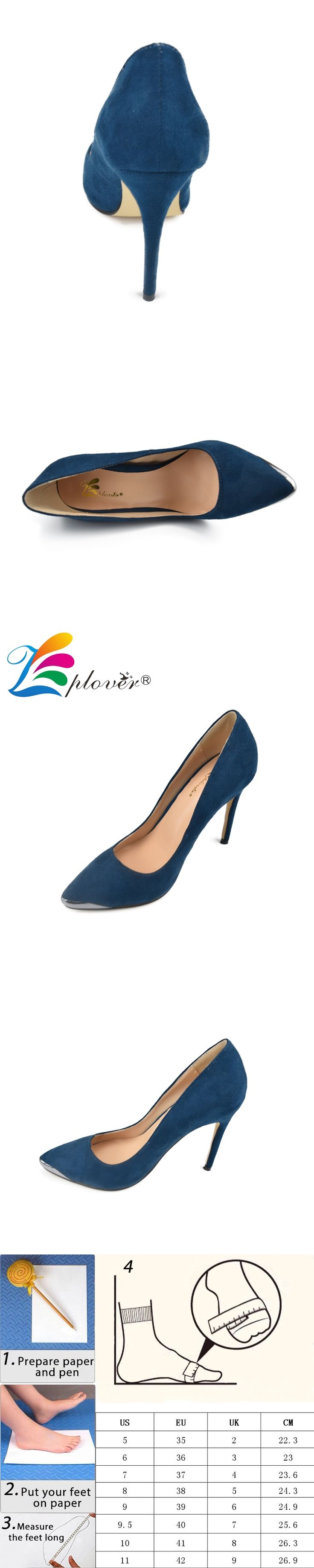 Zplover High Heels Shoes Woman Pumps Sexy Fashion Women Shoes High Quality Sapato Feminino Pointed Toe Plus Size Ladies Shoes