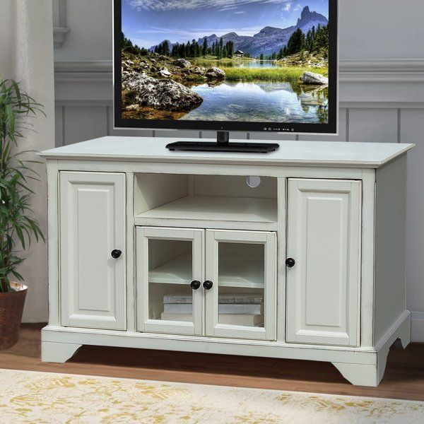 Kimiko Tv Stand For Tvs Up To 48 White Tv Stands Tv Stand Tv Stand Decor Tv stand 48 inches wide