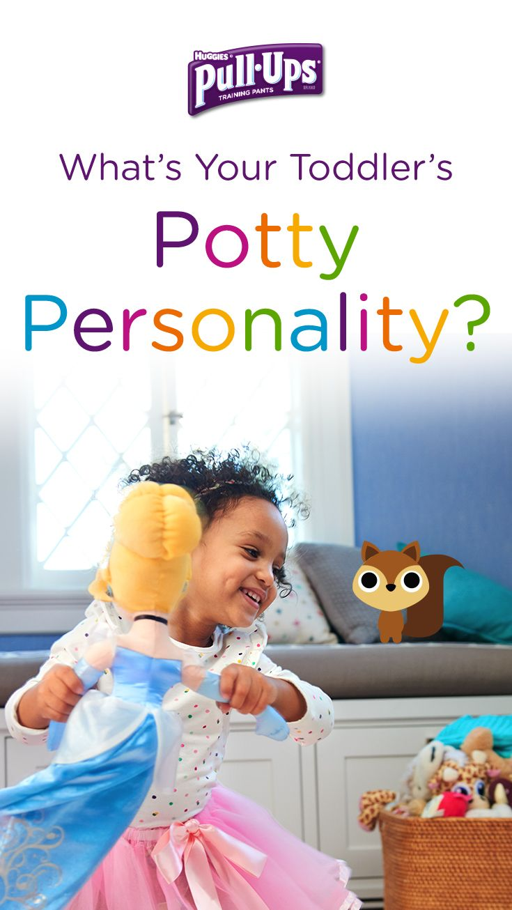 Is your little potty trainer always on the go-go-go? If so, they may have the potty personality of a Squirrel. Find out for sure by taking the Pull-Ups Potty Personality Quiz. Developed in conjunction with Dr. Heather Wittenberg, the quiz can help you discover your child's potty personality and the best way to partner with them as you train together.