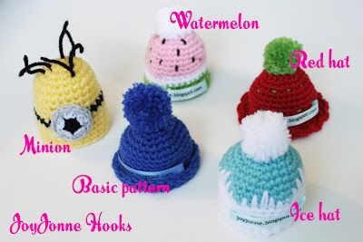 mini mutsjes haken voor de Goedgemutst breicampagne van Innocent drinks (gratis Nederlandse haakpatroontjes - free English crochet patterns)