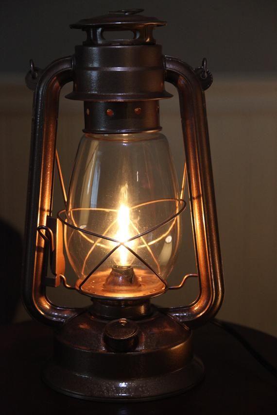 Electric Lantern Table Lamp Copper, Electric Lantern Table Lamps