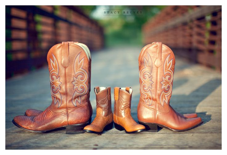 Cute family boot picture by Dallas wedding photographer Stacy Reeves. A few creases and dirt on our boots will just add character.