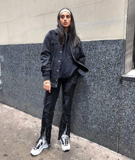 9b856c1bc3 15 Ways to Wear a Black Denim Jacket This Fall in 2019
