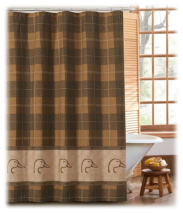 Ducks Unlimited Home Decor: Ducks Unlimited Plaid Collection Shower Curtain