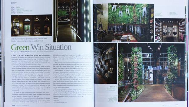 Cubes magazine, Singapore | Vertical Garden Design