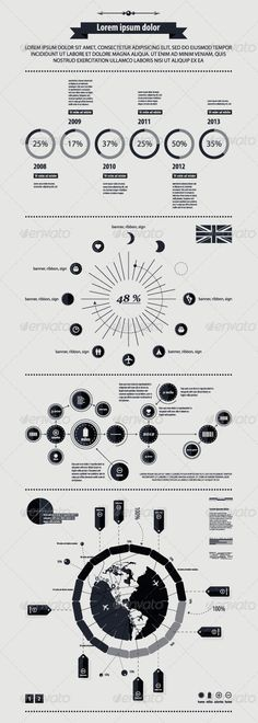 Elements of infographics with a map of America in - Infographics #infographic #graphic #design #graphicdesign #web #graph #stats #chart #statistic #pie #vector #eps #illustrator