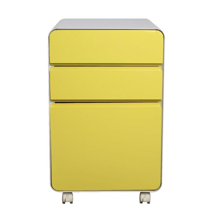 Venturo 3 Drawer Pedestal Yellow