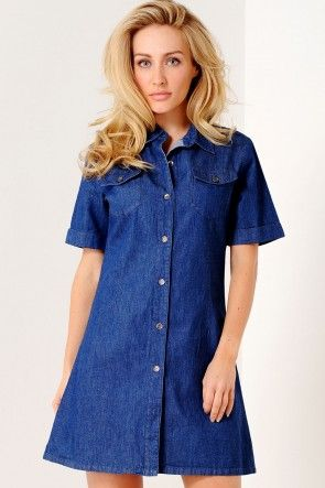 Jordan Denim Shirt Dress
