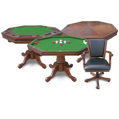 Beautiful North American Hardwood Pedestal Table Instantly Enhances The  Look Of Your Game Room. Save Space While Multiplying The Fun As The Standard