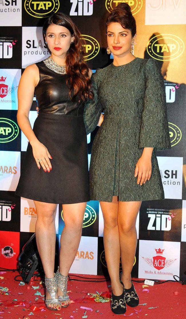 Barbie Handa and Priyanka Chopra at the Zid Mussic Success ...