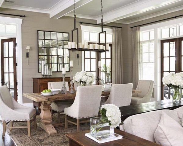 The Chic Technique:  Blurred lines between old and new French decor for this beautiful dining room.