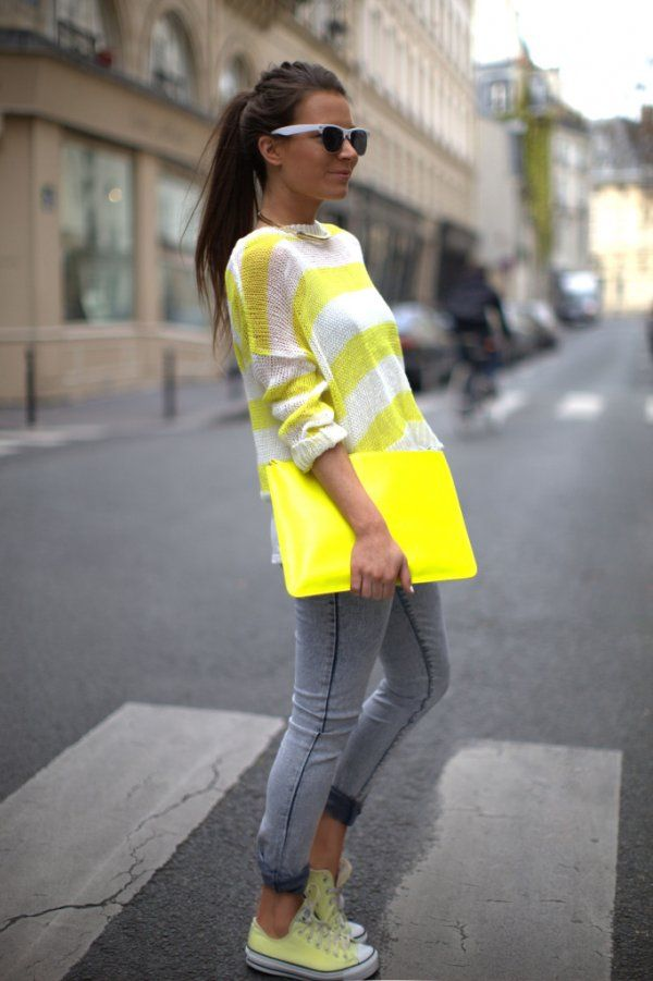 22 best saco amarillo con rayas blancas / yellow striped sweater ...