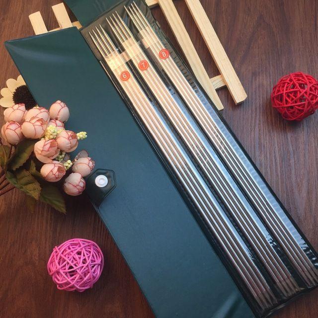 Бесплатная доставка 11 размер / комплект из нержавеющей стали прямые спицы установить 25 см крючки вязальные спицы установить размер 6 - 16