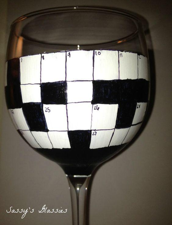 Crossword Puzzle Wine Glass & 122 best Crosswords images on Pinterest | Crossword puzzles ... 25forcollege.com