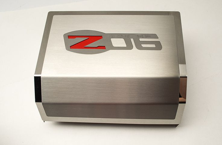 2006-2013 Z06 Corvette - Fuse Box Cover Brushed/Polished Combo with Z06 Logo