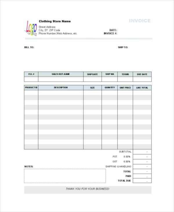 7 Store Receipt Templates Free Printable Excel Word Pdf Receipt Template Templates Printable Free Invoice Template