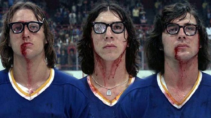 Slap Shot (1977). I'm trying to hear the f-in' song!