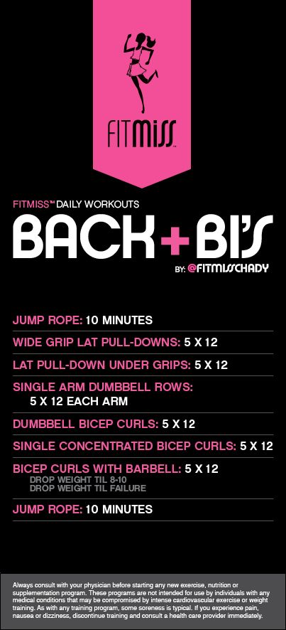 FitMiss Back + Bi's Workout