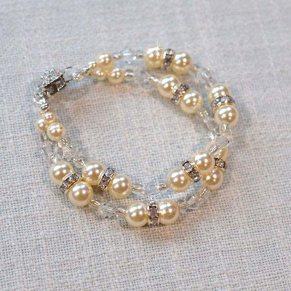 Handmade Sparkling Vintage Inspired Swarovski Pearl & Crystal
