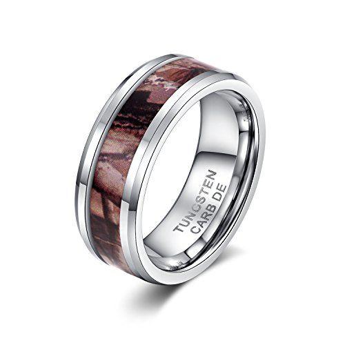 メンズ レディース タングステン リング 指輪,クラシック シンプル 枝 柄 結婚指輪, シルバー(銀) KZUN…