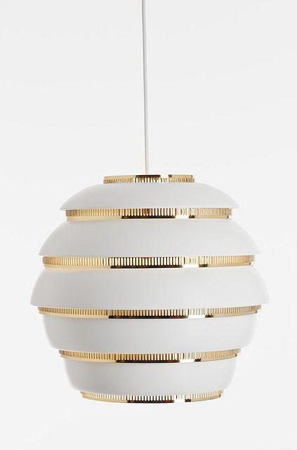 Artek Lighting.  Brass and white.