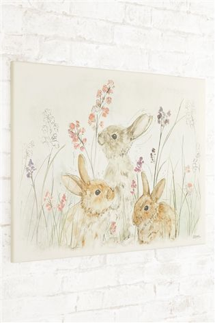 Buy Bunnies In Meadow Canvas from the Next UK online shop