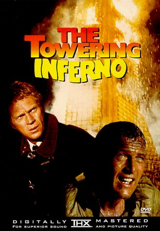 The Towering Inferno – 1974  One Tiny Spark Becomes A Night Of Blazing Suspense. #70sdisaster movies at its best #70smovies