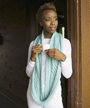 Cable Ace Eternity Scarf: Free knitting pattern created by designer Vickie Howell.