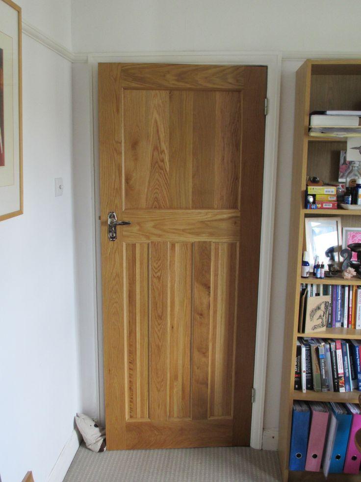 Solid Oak Internal 1930's Style Door. Period property, traditional home setting. One over three panel door. http://www.ukoakdoors.co.uk/solid-oak-internal-1930s-style-door_p23637741.htm