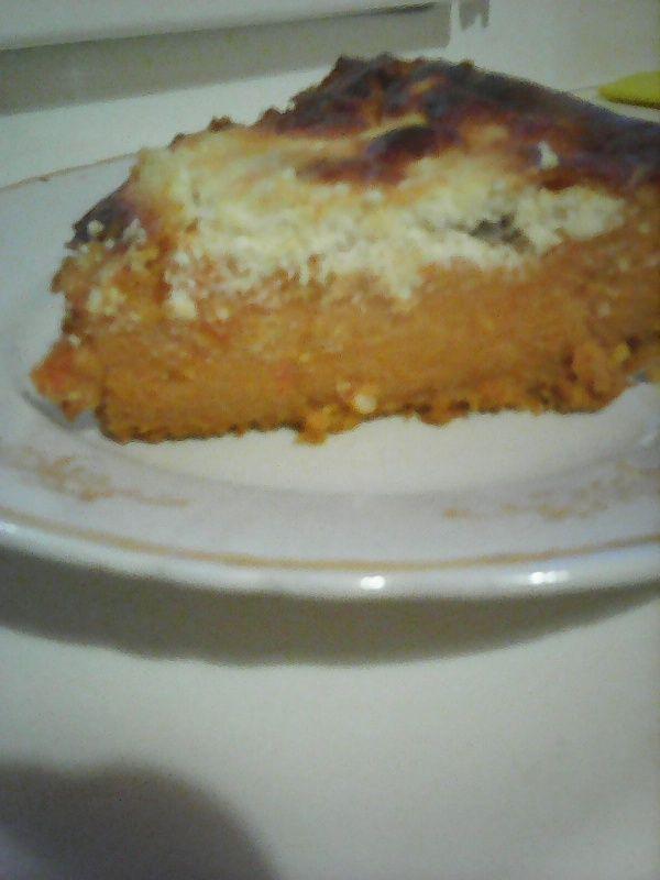 Тыквенный  пирог с творогом