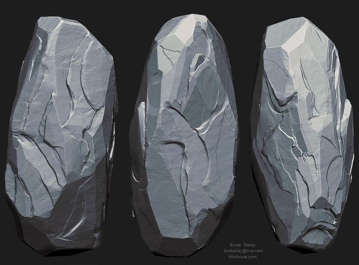 Rock Study 2, Bruce Bailey on ArtStation at https://www.artstation.com/artwork/rock-study-2-635b2616-619f-4b16-b122-c6b24c90293c