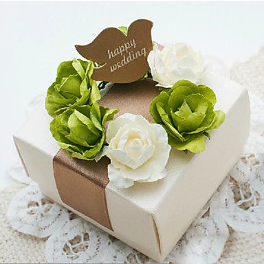 conjunto de 50 caixa favor elegante com flores doces (tag não incluídas) – BRL R$ 235,10