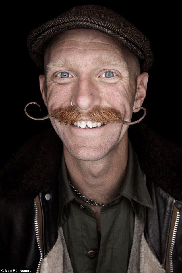 Different: Rainwaters captures a man with a curled ginger moustache for his book BEARD