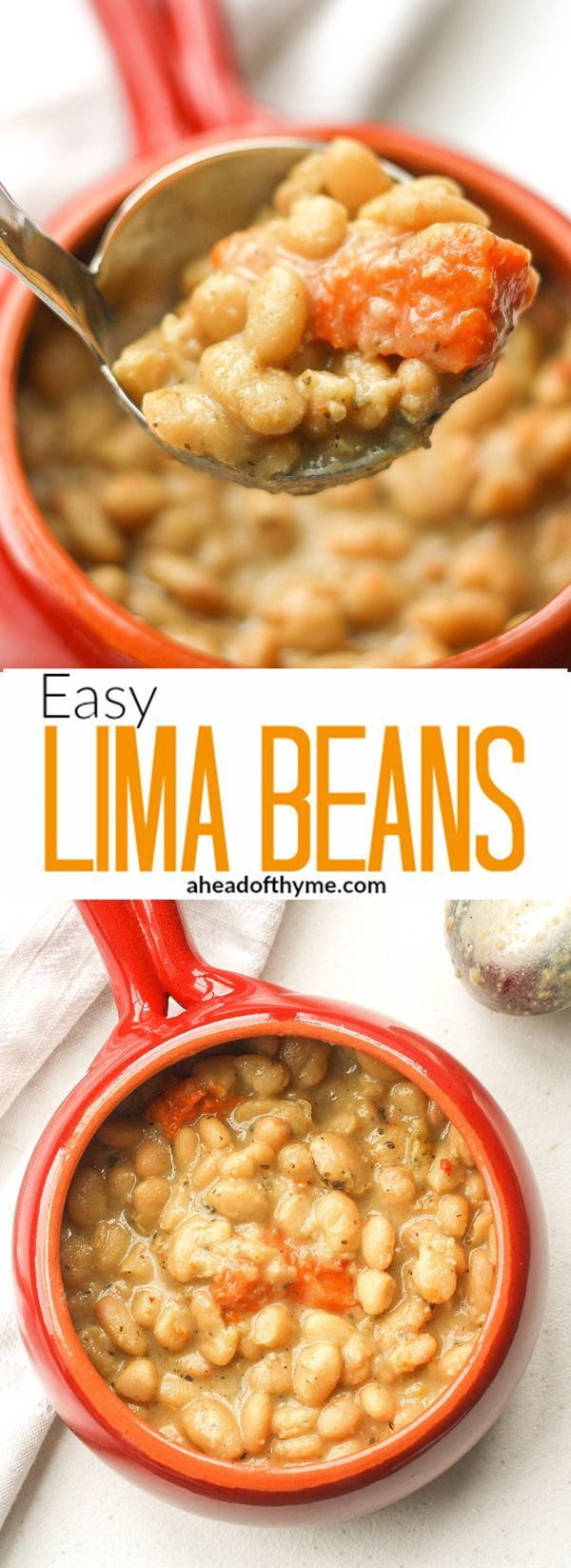 Easy Lima Beans: Lima beans don't have to be boring and bland. Bring them to life by making them tasty and full of flavour with this easy to follow recipe