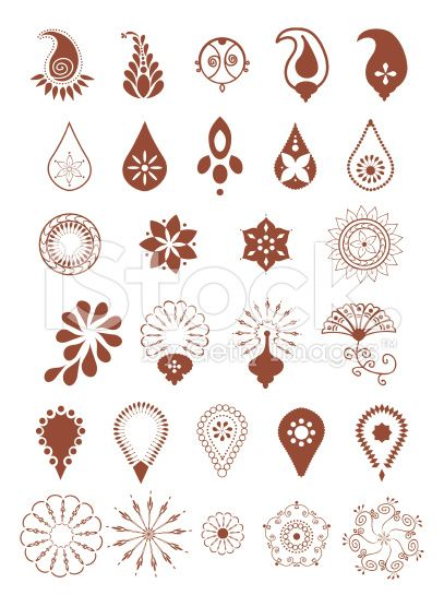 Mehndi Designs (Vector) royalty-free stock vector art