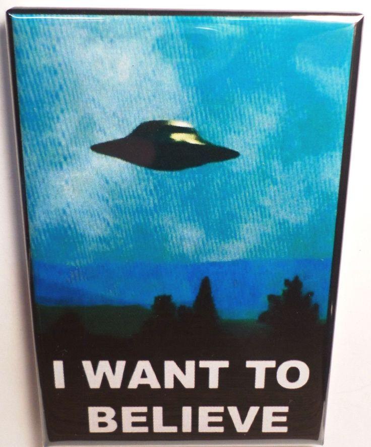"I Want To Believe 2""x3"" Fridge Locker MAGNET"