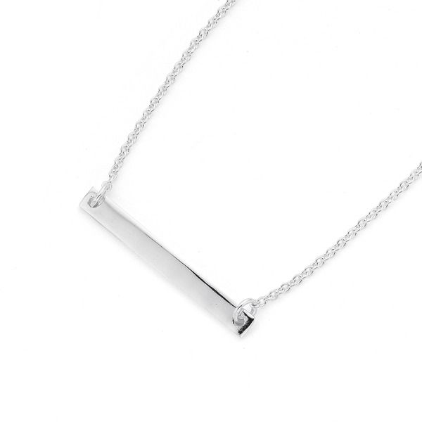 Simple, Sterling Silver Bar Necklet. Wear on it's own or layer with other Necklets!