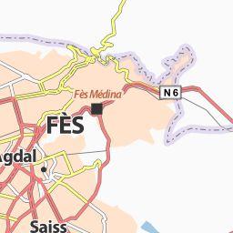 Carte détaillée Fès - plan Fès - ViaMichelin