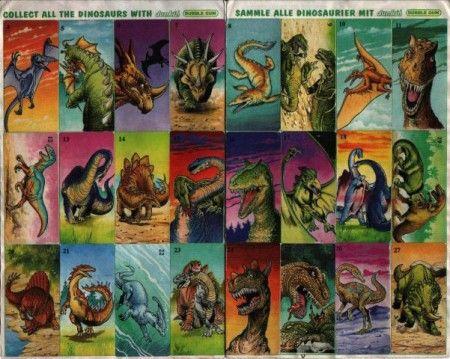 Наклейки из жвачки Динозавры. Восстанови советское детство - http://samoe-vazhnoe.blogspot.ru/