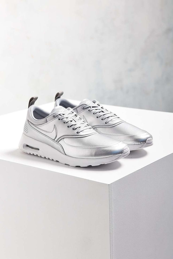 Nike Metallic Silver Air Max Thea SE Trainers